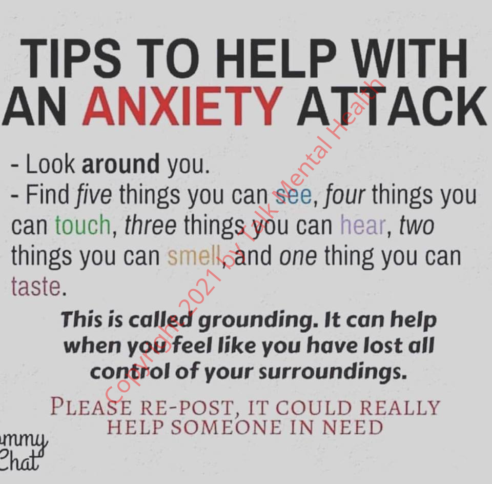 [Talk Mental Health.com] Tips to help with an Anxiety attack